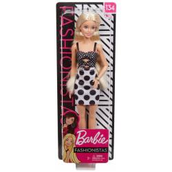 Barbie Fashionista Doll - Black & White Dress