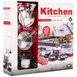 Stainless Steel Kitchen Utensils - 23 Pcs