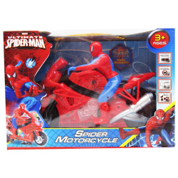 Motorcycle Spiderman With Light And Sound