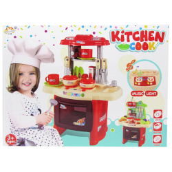 Kitchen Cook With Lights & Voice - Red