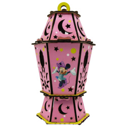 Wood Lantern With Sound & Light - Minnie Mouse