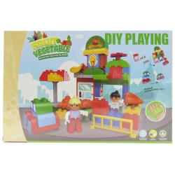 Fruit Vegetable Building Blocks - 58 Pcs