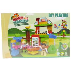 Warm Family Building Blocks - 62 pcs