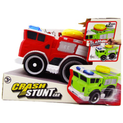 Crash Stunt Car With Light & Soound - Fire Rescue