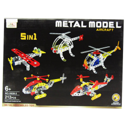 5IN1 Enginnering Aircraft Building Blocks - 212 Pcs