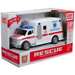 Truck Rescue Ambulance 1:20 With Lights & Siren