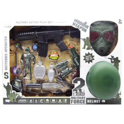 Miltary Action Play Set With Lights & Sounds - 15 Pcs