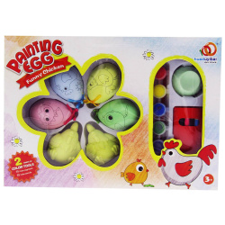 Easter Eggs Coloring Wih Water Colors - Funny Chicken
