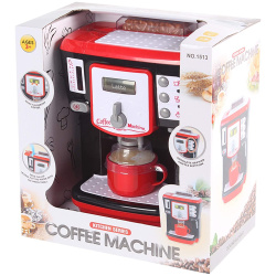 Realistic Coffee Machine With Cup - Red