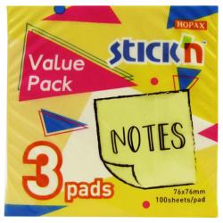 Regular Sticky Notes - 3 Pads - Yellow