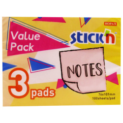 Regular Sticky Notes - 3 Pads - 3 Color
