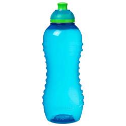 Hydrate Twist N Sip Squeeze Water Bottle - 460ML - Blue