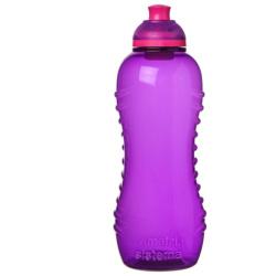 Hydrate Twist N Sip Squeeze Water Bottle - 460ML - Purple