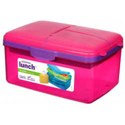 Quaddie Lunch Box With Water Bottle - 2L - Pink
