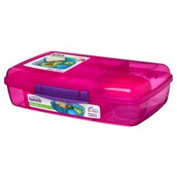 Bento Box 1.76L Lunch Box With Yogurt Pot - Pink