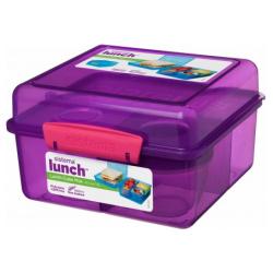Cube Max 2L Lunch Box With Yogurt Pot - Purple
