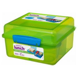 Cube Max 2L Lunch Box With Yogurt Pot - Green