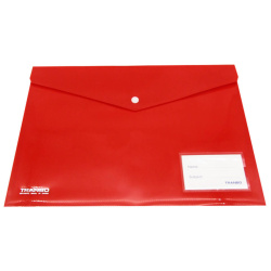 A4 Tranbo Capsule Envelope File - Red