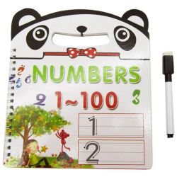Small Educational Book With Marker - Numbers