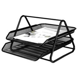 Tray Document Basket Organizer - 2 Tiers