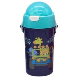 Tritan Water Bottle 500ML With Straw - Animals
