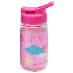 Tritan Water Bottle 450ML With Straw - Princess