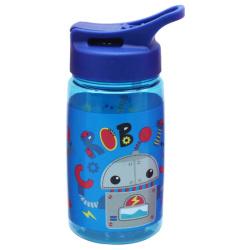 Tritan Water Bottle 450ML With Straw - Robot