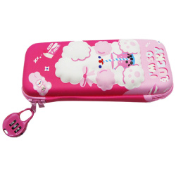 Iam So Lucky Pencil Case With Lock - Pink