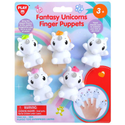 Fantasy Unicorns Finger Puppets - 5 Pcs