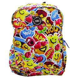 Campus Life 18 Inch Backpack - Emojy Fun Design