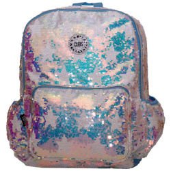 Sequin 18 Inch Backpack - Blue Star