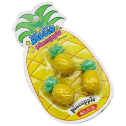Eraser Hello Pineapple - 3 Pcs