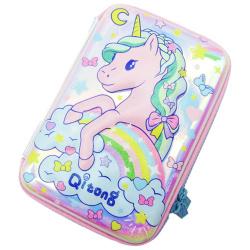 Unicorn Laser Pencil Case - Pink
