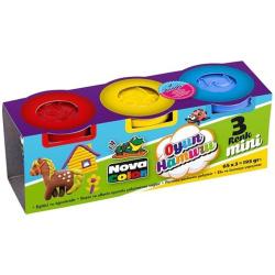 Mini Nova Color Play Dough - 3 Pcs