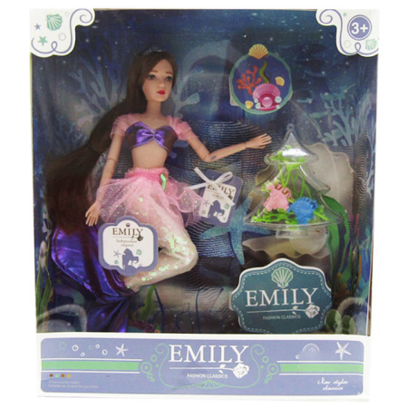 Emily Fashion Doll - Mermaid With Pink Tail