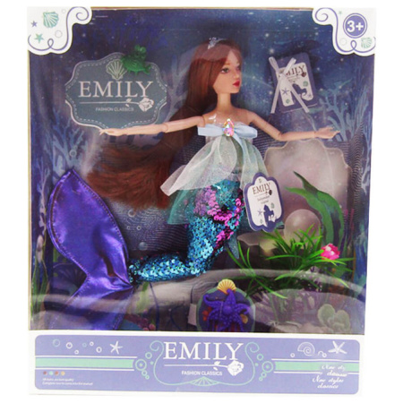 Emily Fashion Doll - Mermaid With Blue Tail